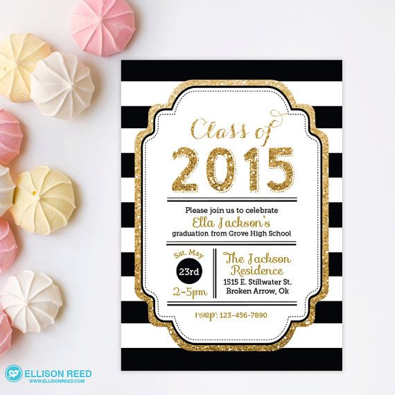 1000 images about graduacion – Black and Gold Graduation Invitations