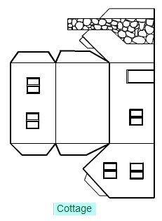 Casa papel 07 arbre pinterest maisons en papier bricolage noel et maison en carton - Gabarit maison en carton ...