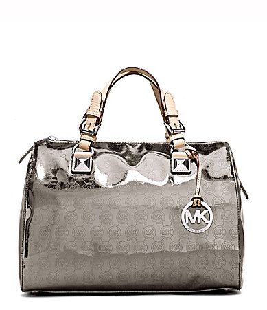 ae009336dae6 MICAHEL Michael Kors Grayson Mirror Metallic Satchel Bag #Dillards I'm in  love with the rose gold. Been stalking it since last summer.