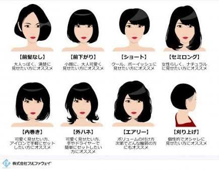 「女の子 髪型 種類」の画像検索結果