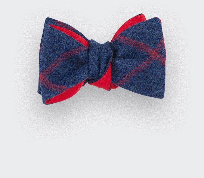 88bd1b17c247 CINABRE Paris - Noeud Papillon Tweed Carreaux Bleu #noeudpapillon #tweed # bowtie #cinabre #paris #fashion #winter #scottish #style #man #handmade ...
