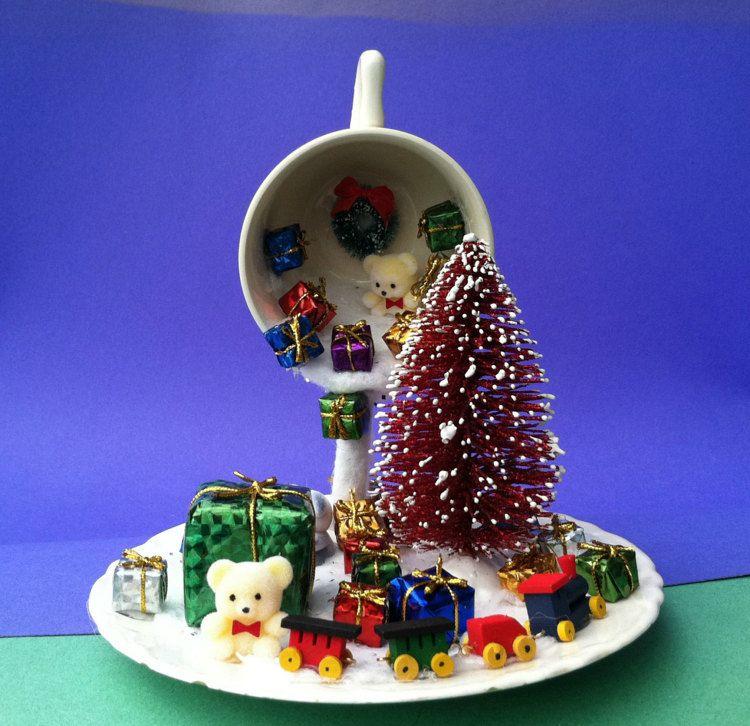 Christmas Floating Tea Cups.Christmas Decor Floating Cup Christmas By