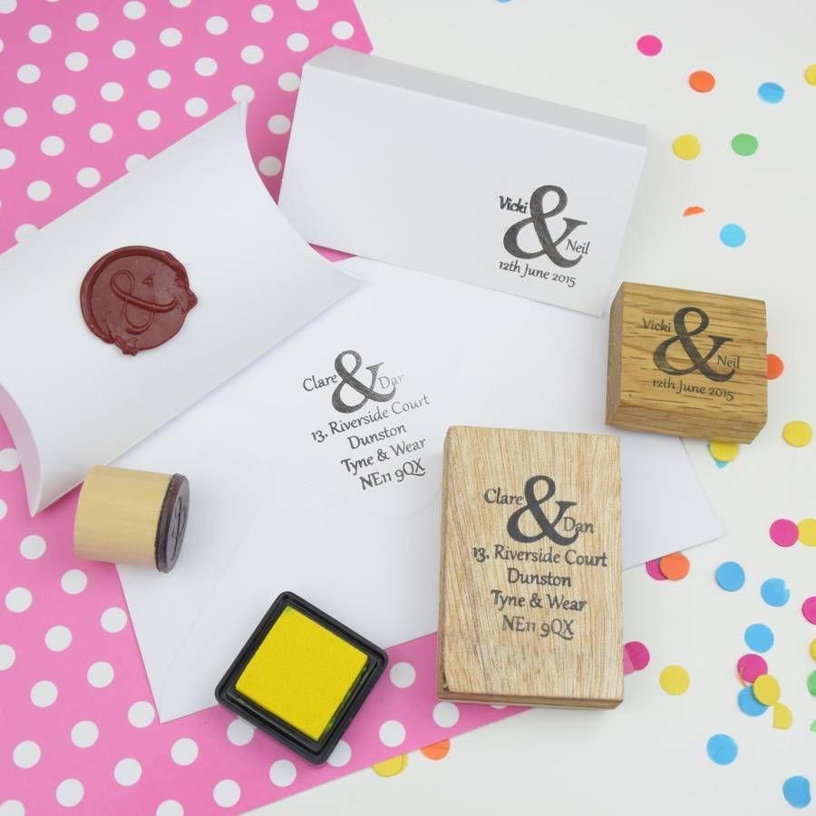 Ampersand Address Rubber Stamp