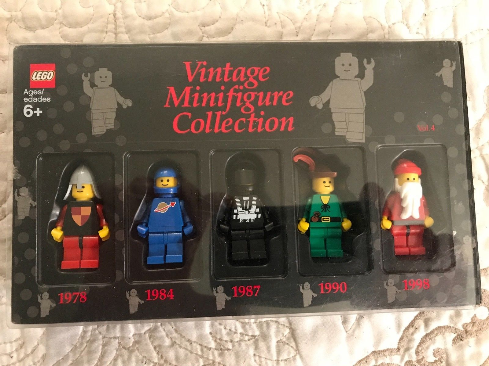 Lego Vintage Minifigure Collection Vol 4 Black 852753 5 Vintage Figures