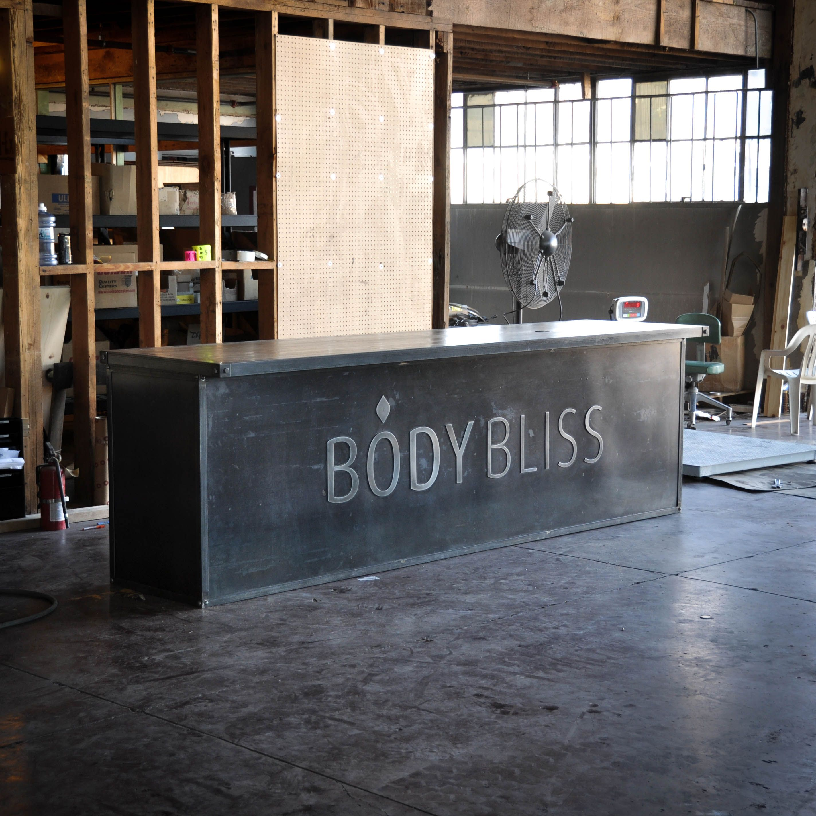 Custom Counter For Body Bliss By Vintage Industrial