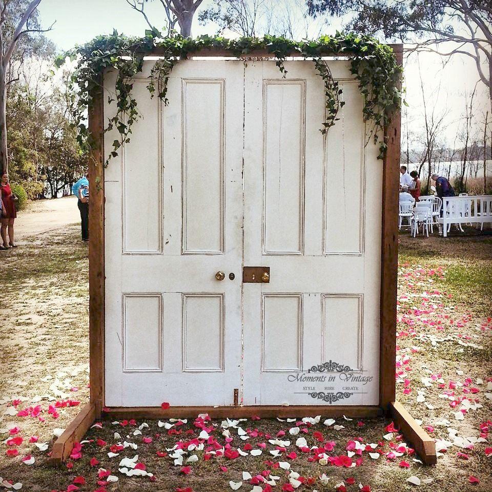 Outdoor Wedding Ceremony Doors: Freestanding Door Entryway Available For Hire From Moments