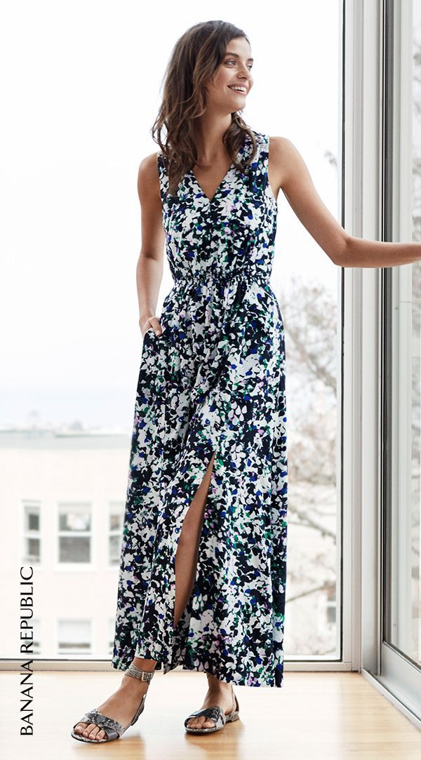 Buy yourself flowers this spring! Banana Republic\'s mixed floral ...