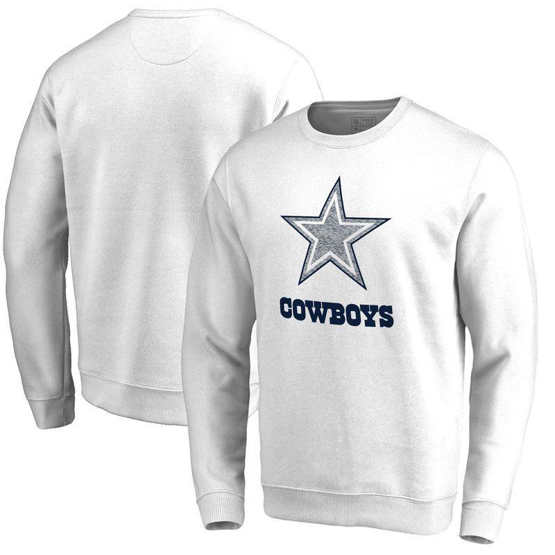 bcaacb6ec Dallas Cowboys NFL Pro Line by Fanatics Branded White Out Pullover  Sweatshirt – White Dallas Cowboys