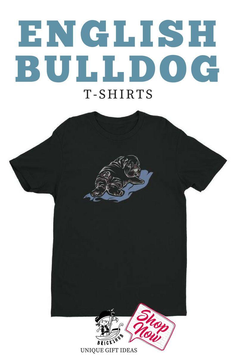 I love this unique tshirt with a fun english bulldog