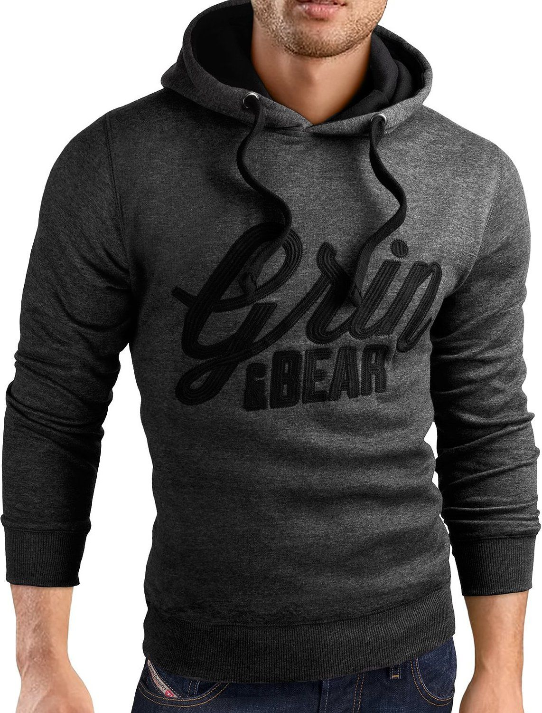 Grin&Bear Slim Fit Hoodie Jacket heavy duty embroidery