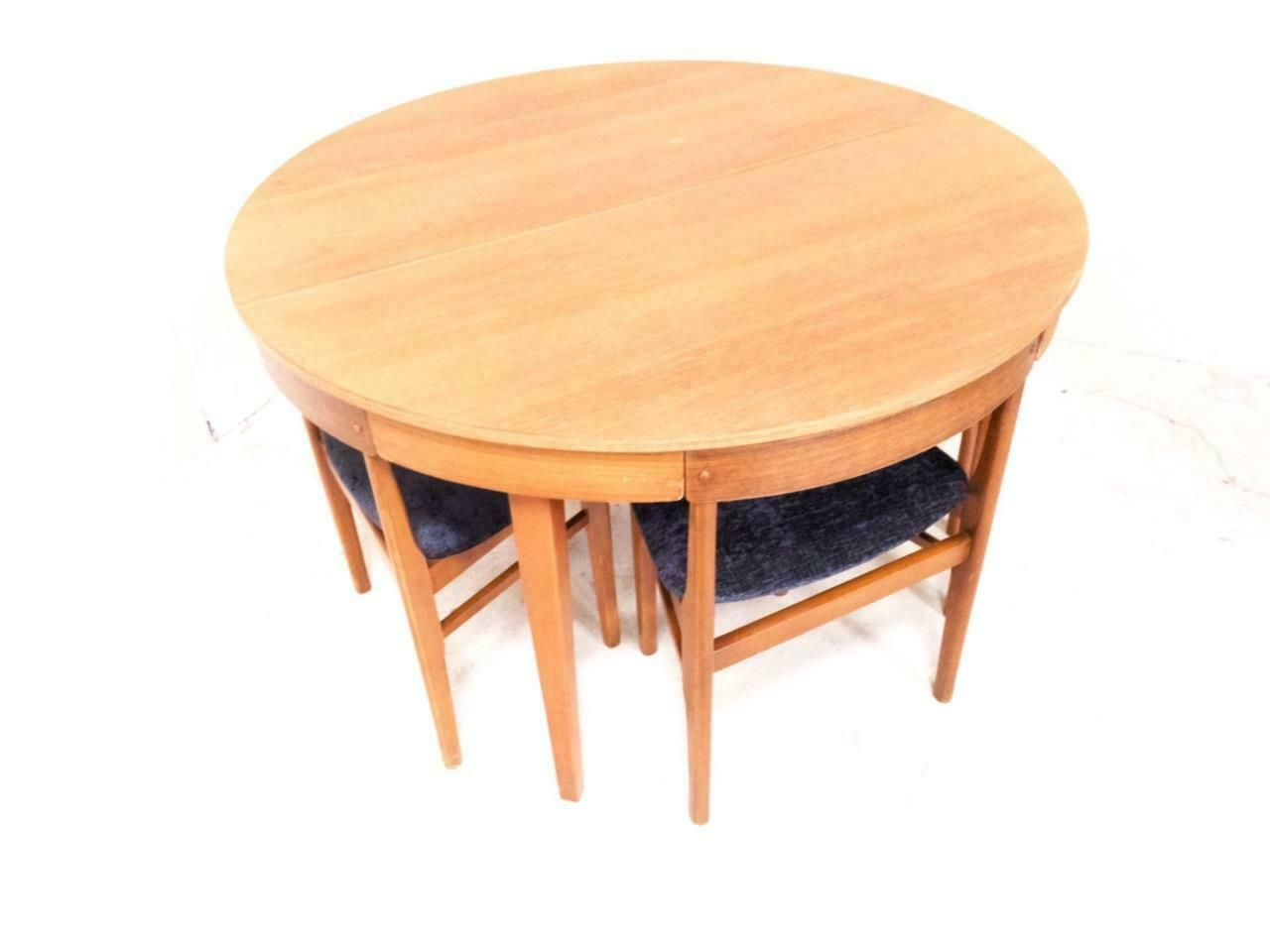 Mcintosh Dining Table Chairs Roundette 1970s Heals Hans