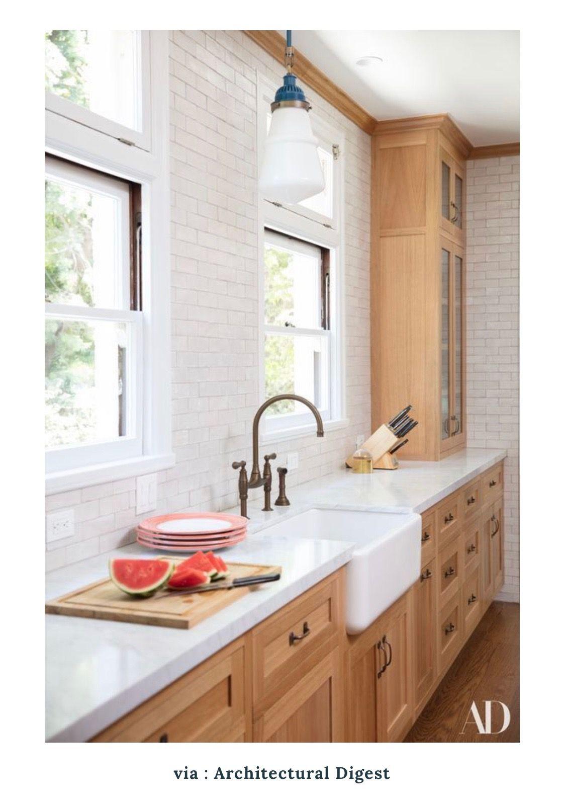 Blonde Wood Cabinets So Warm And Brightens The Kitchen Rustic Kitchen Sinks Upper Kitchen Cabinets Maple Kitchen Cabinets