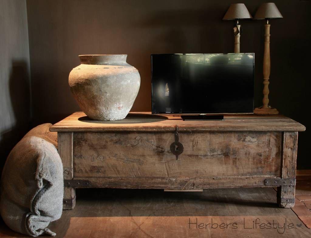 Oude Indische deken kist - Landelijk wonen stijl | Pinterest ...