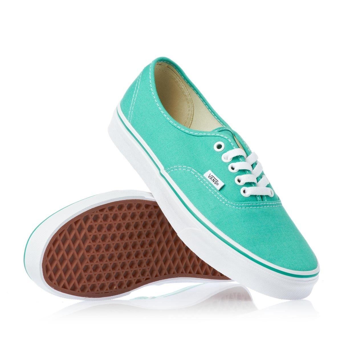 zapatillas vans mujer verde agua