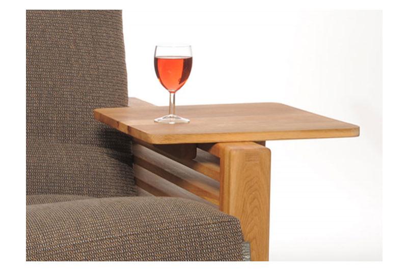 Oke Single Seater Oak Sofa Bed Furniture for small