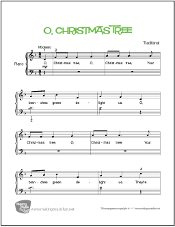 O Christmas Tree From A Charlie Brown Christmas Beginner Piano Sheet Music Visit Makingmusicfun Net For More Fre Piano Sheet Music Sheet Music Piano Sheet
