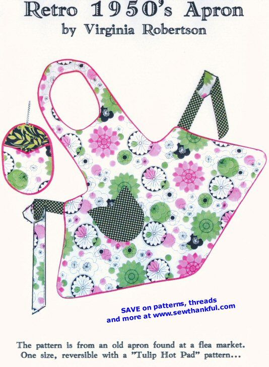 Free Online Apron Pattern | Pattern Gate – Vintage Sewing Patterns ...