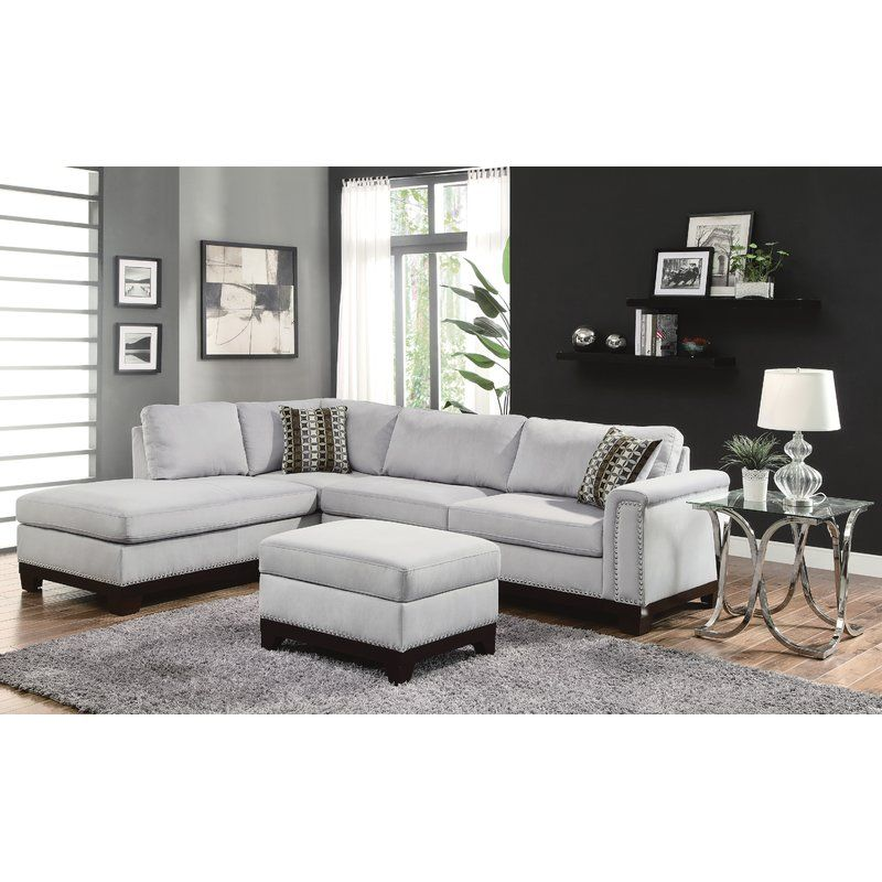 Sectional Sofa With Chaise, Grey