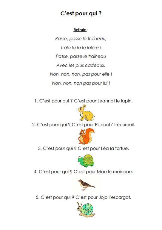 Comptines Et Chants Maternelle