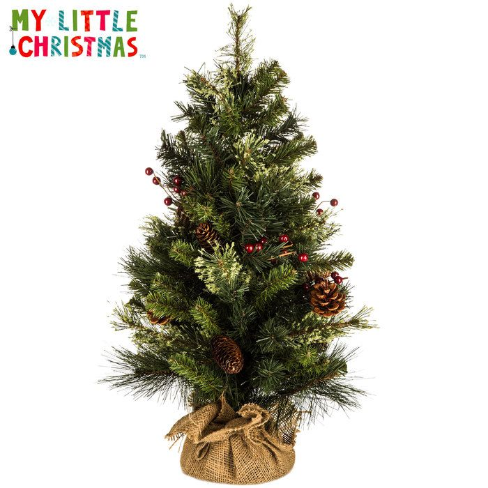 Get 24 Tree with Pinecones, Berries  Burlap Base online or find