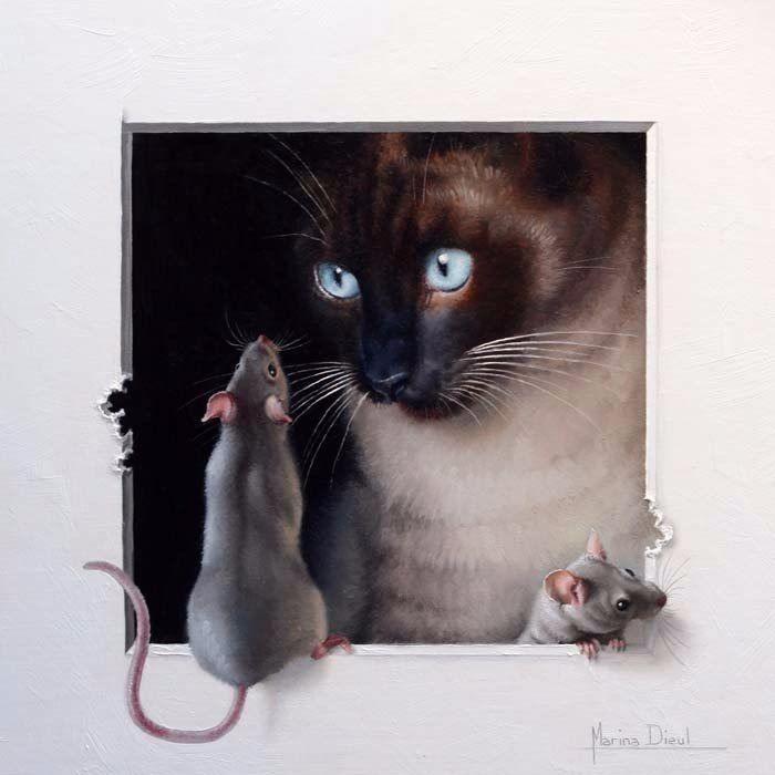 картинки для декупажа кот и мыши бесплатно бездомных животных