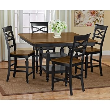 American Signature Furniture Chesapeake Dining Room 5 Pc Counter Height Dinette 699 99 Brown Dining Room Dining Room Furniture Brown Dining Room Table