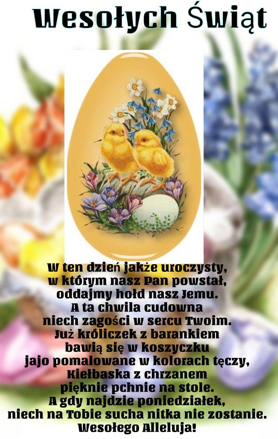 Pin By Wanda Swoboda On Wielkanoc Jajo Zyczenia Swiateczne Kartki