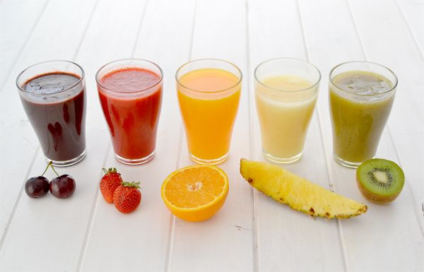 Fresh fruit juices to make ice pops - Zumos de fruta fresca para hacer helados