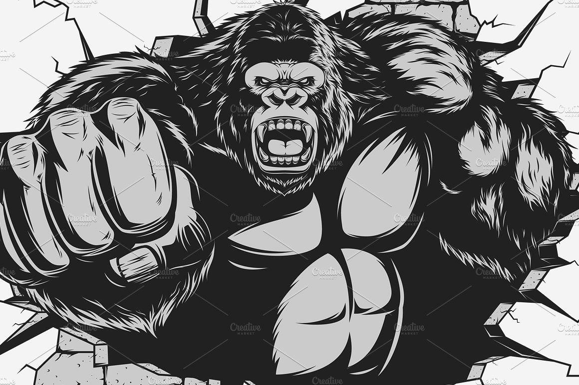Картинки гориллы качка