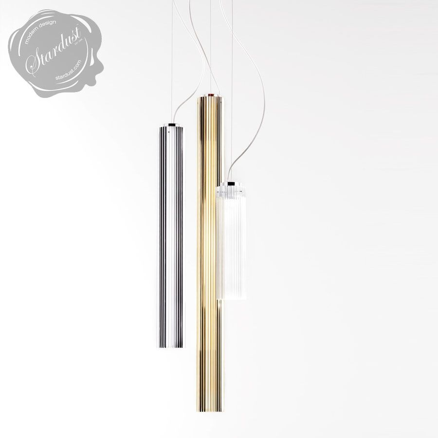 Kartell Rifly™ Crystal Modern Long Pendant Lamp with 8w/LED Light ... for Cylinder Hanging Lamp  5lpkxo