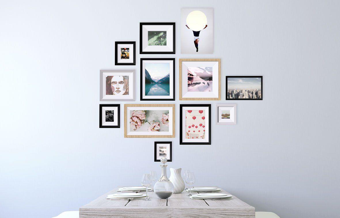 galeriewand gestalten Galeriewand, Bilder aufhängen