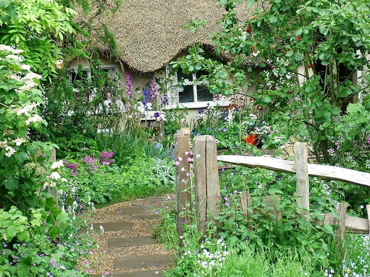 Cottage garden landscape design ideas   Stunning Country Cottage Gardens Ideas  Garden ideas Gardens