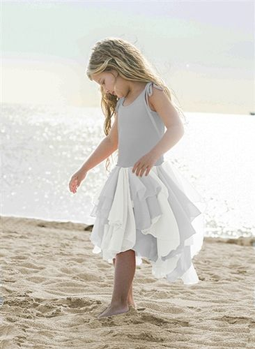 Pixie Girls Pirouette Dress In Grey Preorder 2 To 12 Years