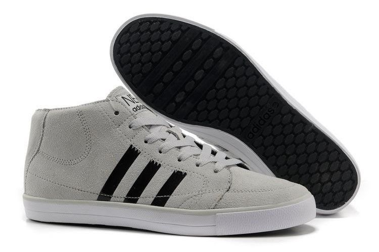 release date: 40600 9d255 ... new zealand adidas vlneo hoops mid shoes lysgrå sort hvid herre ccc90  bf5a2