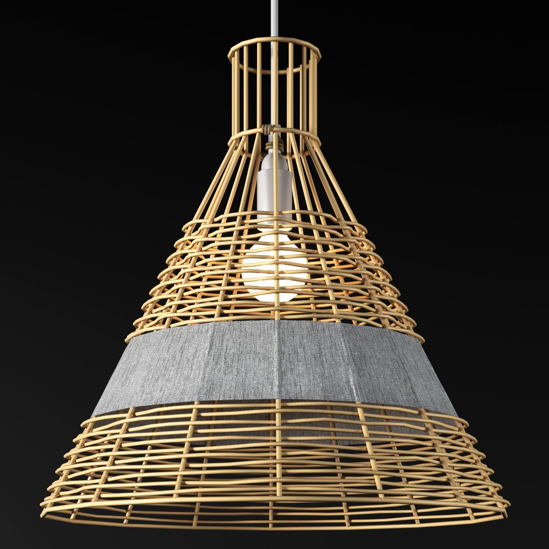 3d Other Wicker Light Wickerwork In 2020 Light Ceiling Lights 3d Model