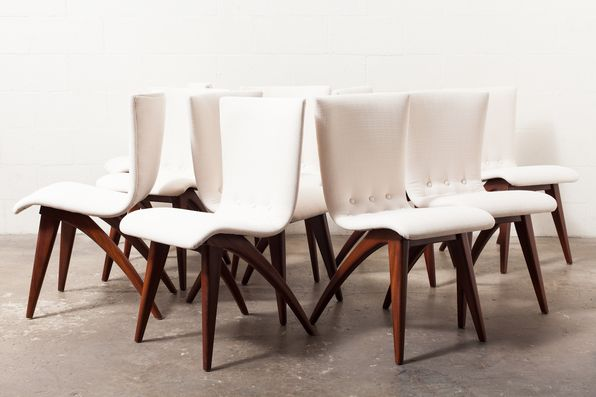 Set Of 10 Dining Chairs From Van Oss Culemborg Mcm