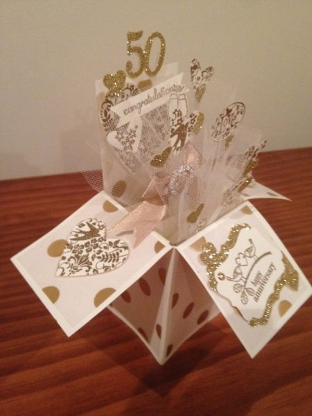Stampin Connection Golden Anniversary Cards 50th Anniversary Cards Anniversary Cards Handmade