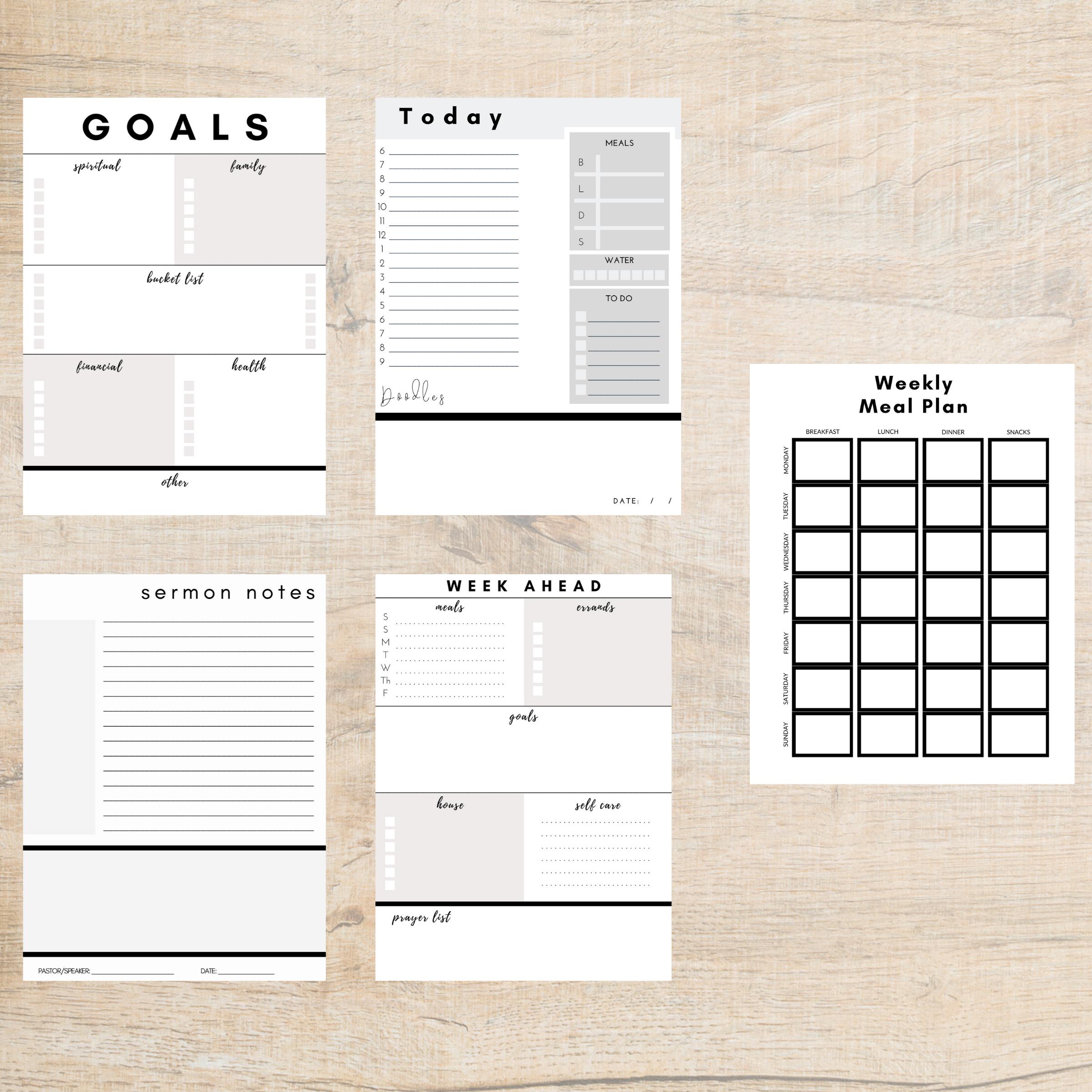 Printable Lifestyle Planner Kit