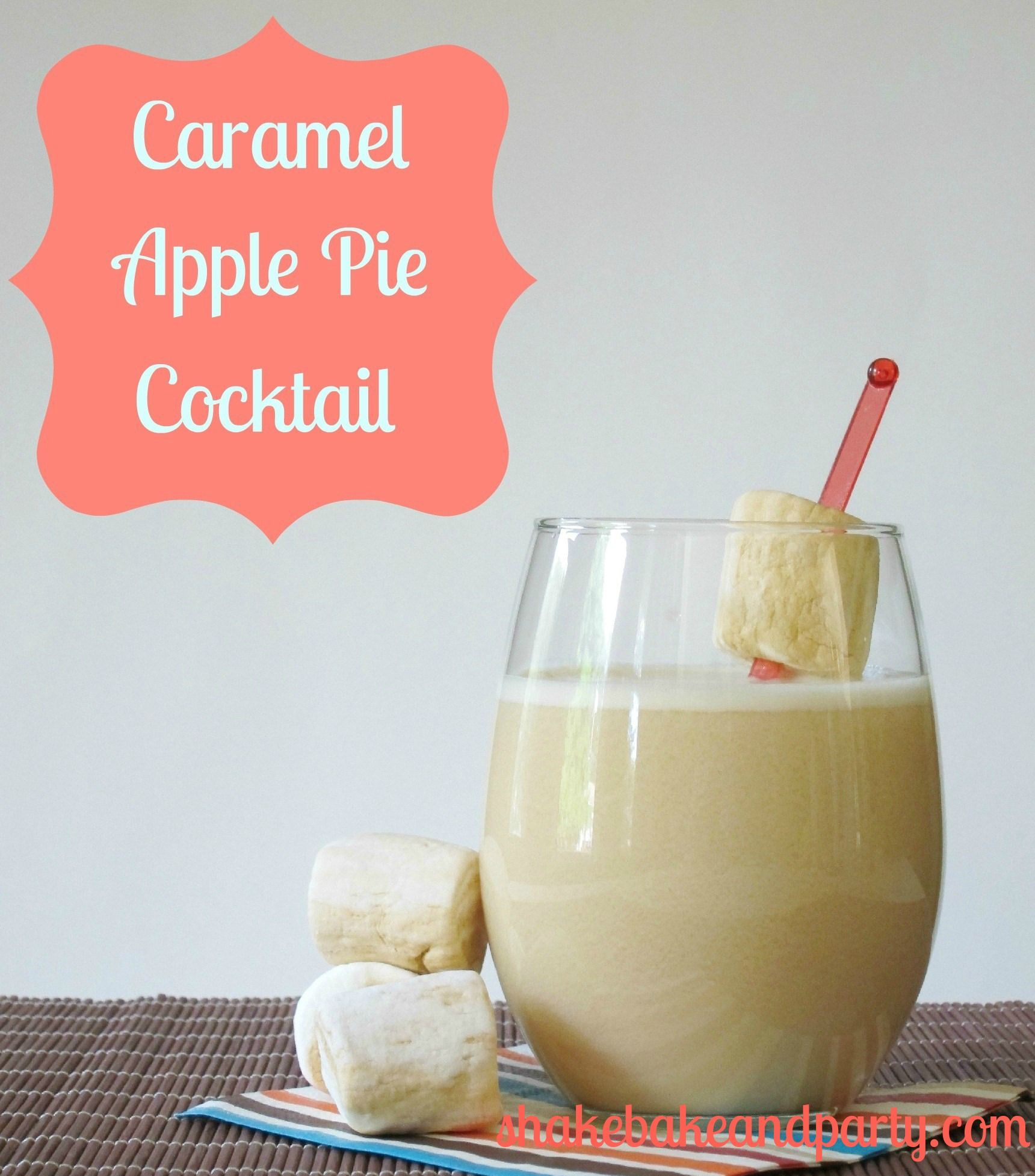 Caramel apple pie cocktail made with caramel vodka apple for Cocktail 9 mac