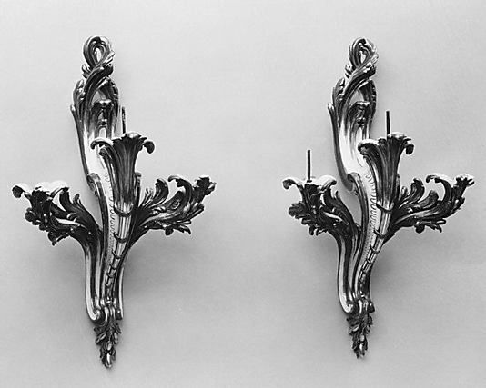 Wall sconce (Bras de cheminée) (one of a pair) Sèvres Manufactory  (French, 1740–present) Artist: After a design by Jean-Claude Duplessis (c...