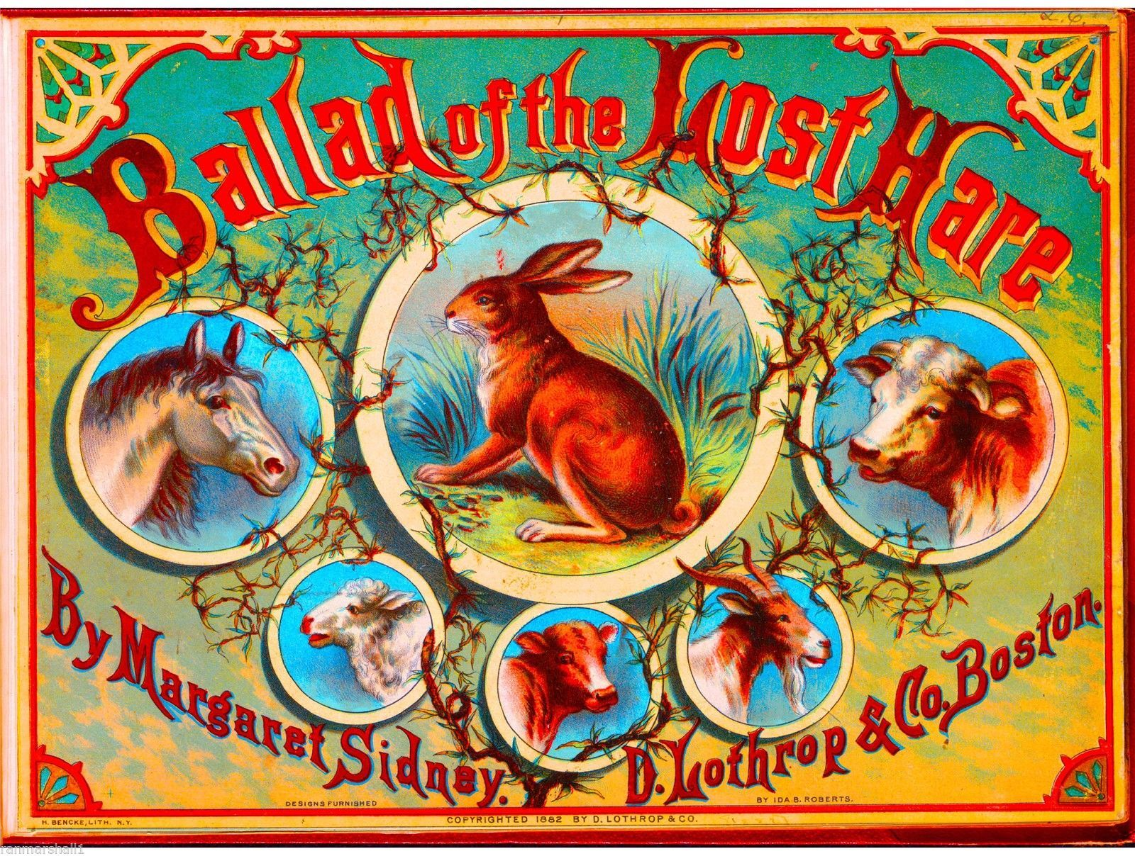 1885 Queen of the Ring Horse Smoke Vintage Cigar Tobacco Box Crate Label Print