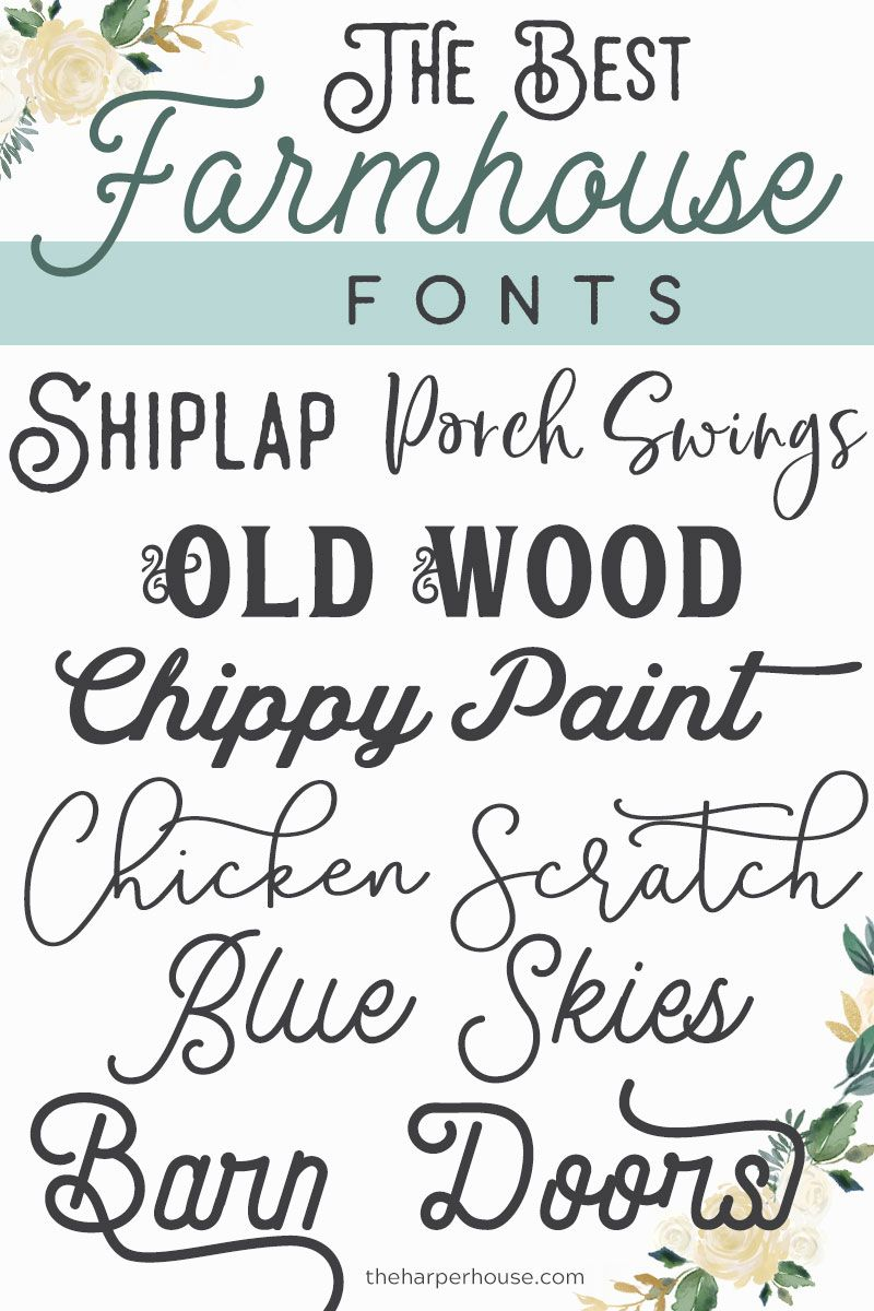 Farmhouse Fonts Joanna Gaines Approved The Harper House