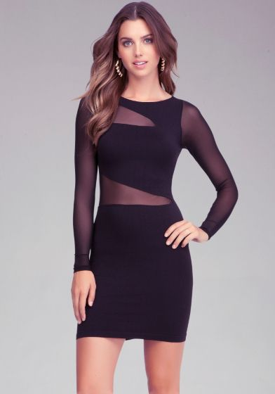 With sheer asymmetric mesh detail and a soft stretch that accentuates curves, this bebe bodycon dress is guaranteed to turn heads. Try yours with a pair of party shoes and an embellished clutch to complete an after-dark look.