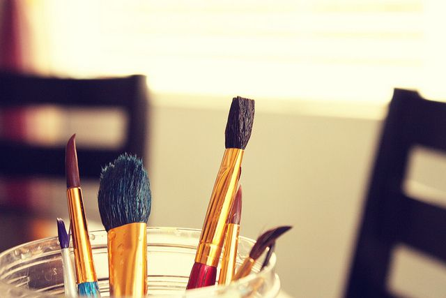 Paintin and painting away., via Flickr.