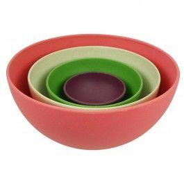 Bambus Geschirr Salatschussel Zuperzozial Rainbow Im 4er Set