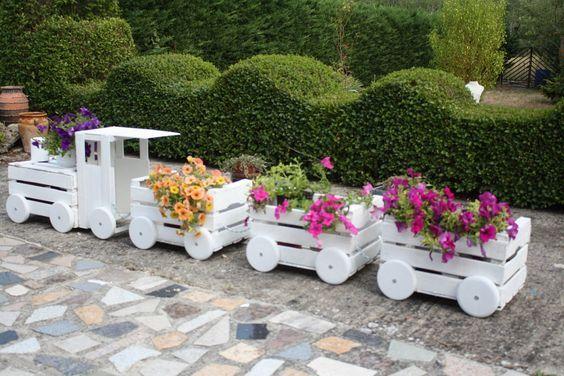 Decorazioni In Legno Per Giardino : Decorazioni creative con cassette di legno ecco esempi per