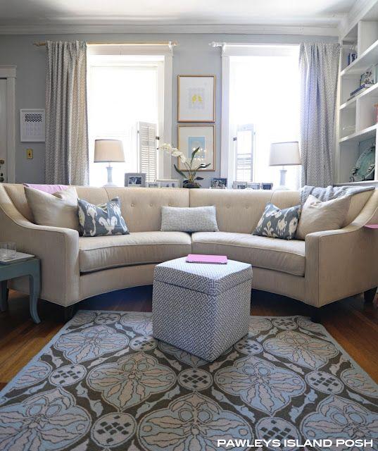 Curved Sofa Atlanta: Living Room Coffee Table