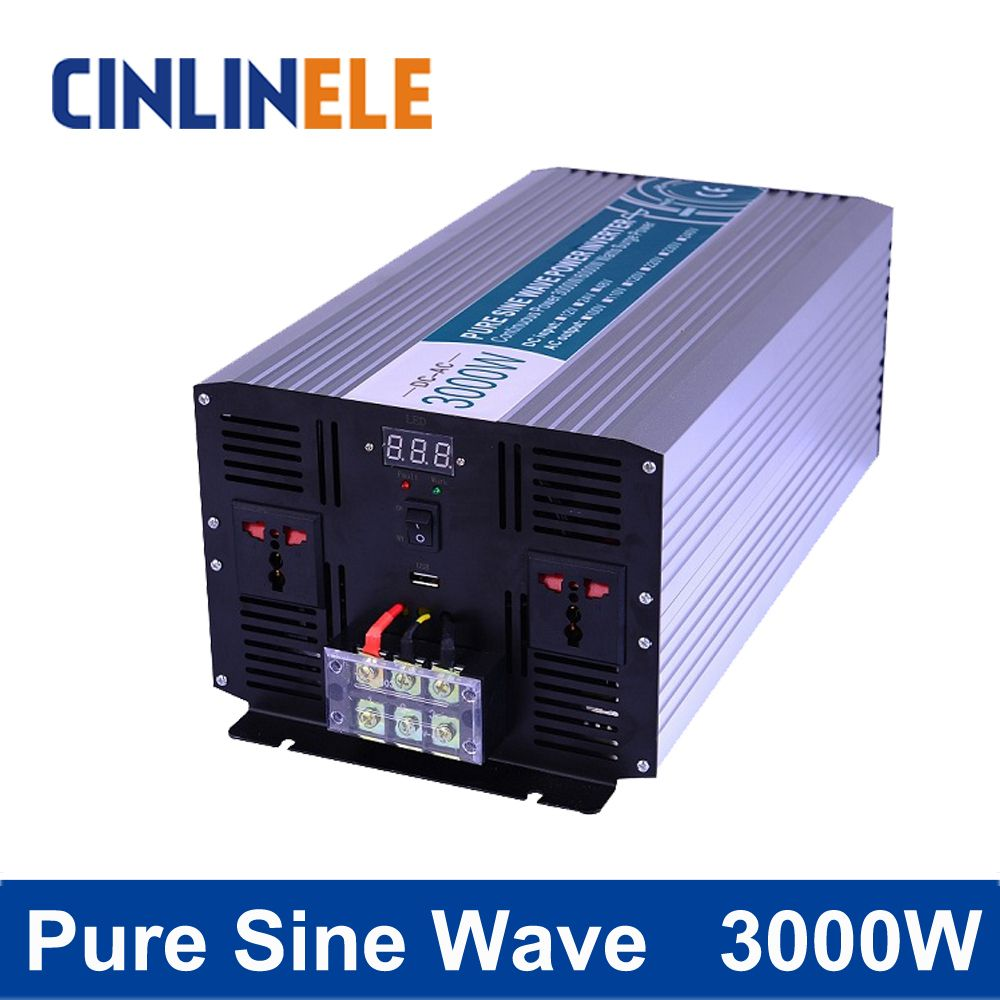 Pure Sine Wave Inverter 3000w Clp3000a Dc 12v 24v 48v To Ac 110v Circuits 220v Power Circuit Diagram Affiliate