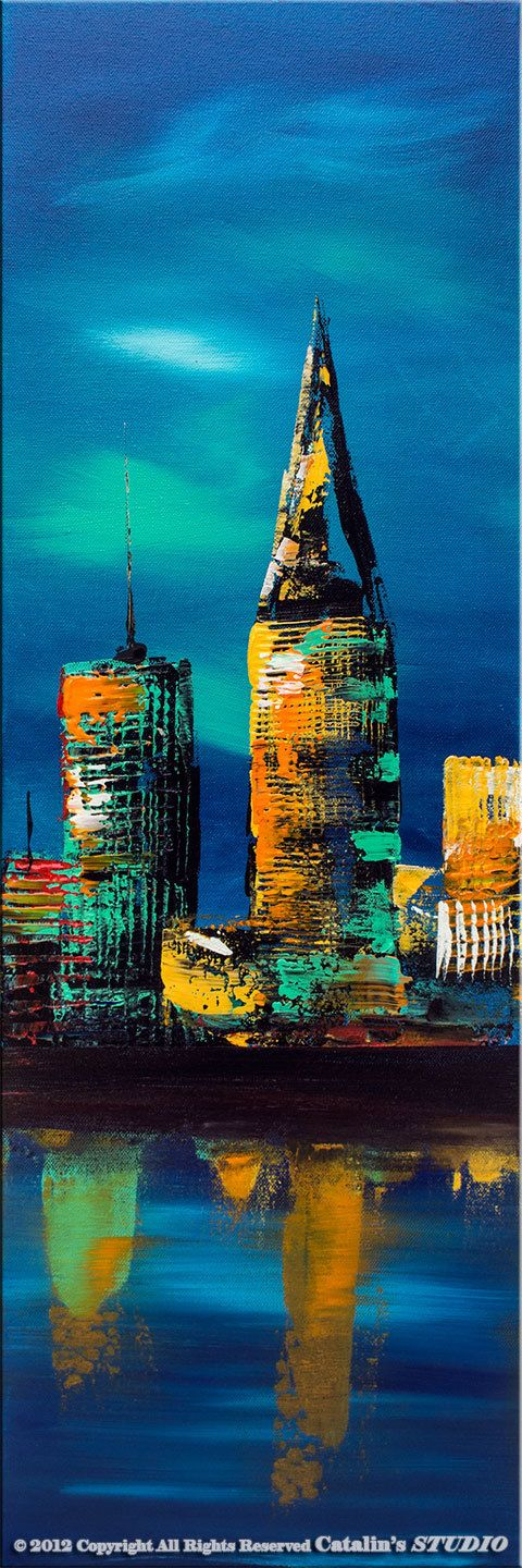 Large Palette Knife Painting Abstract Original Modern por Catalin