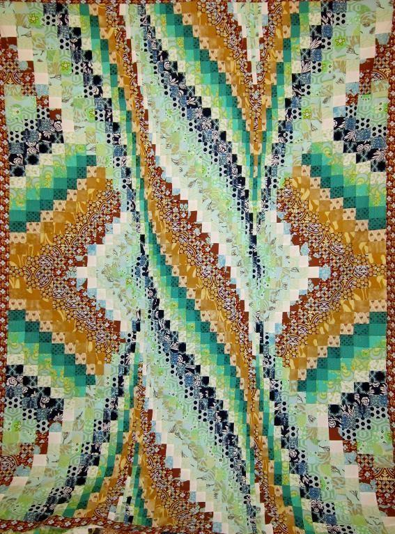Spiral Burst Bargello Quilt Top 74